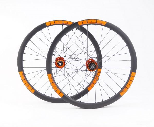 NOA 120 klicks Carbon Singlespeed Laufradsatz Orange