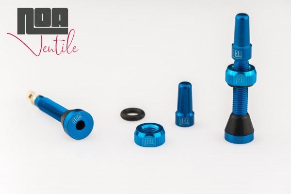 NOA Tubeless-Ventile blau