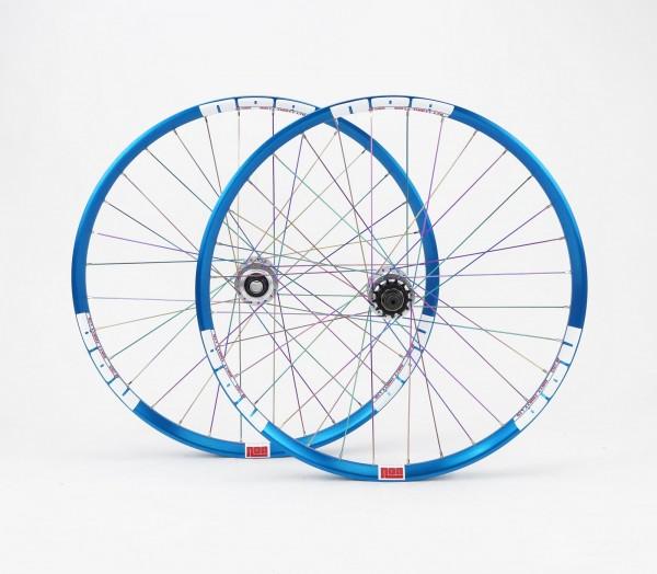 NOA Dirty Thirty Limited Singlespeed Laufradsatz 120 klicks Naben / Felge blau-silber