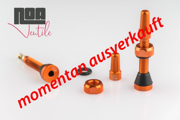 NOA Tubeless-Ventile orange