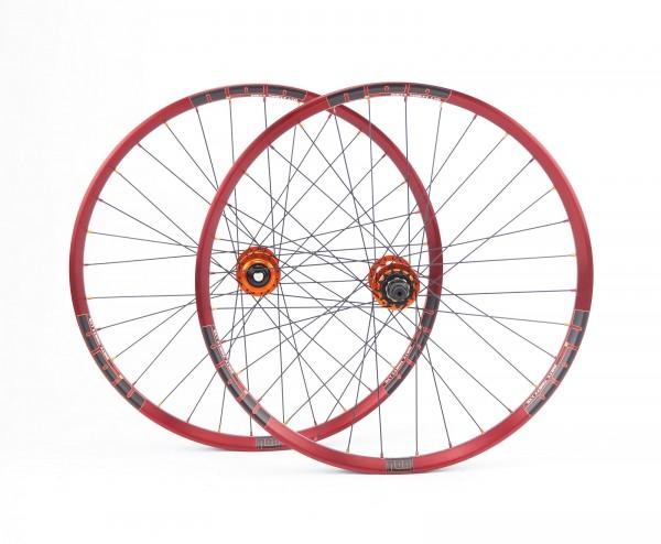 NOA Dirty Thirty Limited Singlespeed Laufradsatz Rot - 120 klicks